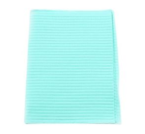 """Polyback® Patient Towels, 3-Ply Tissue with Poly, 19"""" x 13"""", Aqua"""