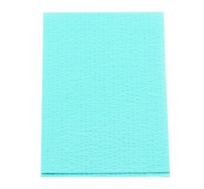 "Advantage Plus® Patient Towels, 3-Ply Tissue with Poly, 18"" x 13"", Aqua"