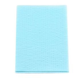 "Advantage Plus® Patient Towels, 3-Ply Tissue with Poly, 18"" x 13"", Blue"