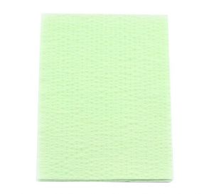 "Advantage Plus® Patient Towels, 3-Ply Tissue with Poly, 18"" x 13"", Green"