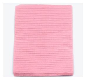 "Sani-Tab® Chain-Free® Patient Towels, 3-Ply Tissue with Poly, 19"" x 13"", Dusty Rose"