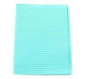 "Econoback® Patient Towels, 2-Ply Tissue with Poly, 19"" x 13"", Aqua"