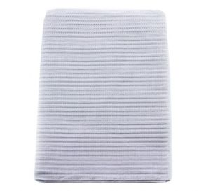 "Econoback® Patient Towels, 2-Ply Tissue with Poly, 19"" x 13"", Silver Grey"