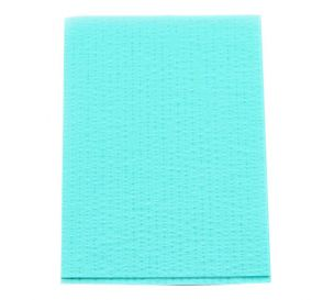 "Advantage Patient Towels, 2-Ply Tissue with Poly, 18"" x 13"", Aqua"