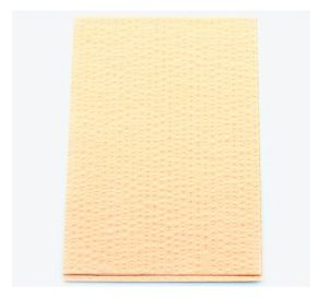 """Advantage Patient Towels, 2-Ply Tissue with Poly, 18"""" x 13"""", Peach"""