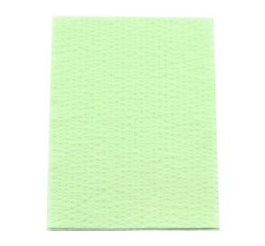 """Advantage Patient Towels, 2-Ply Tissue with Poly, 18"""" x 13"""", Green"""