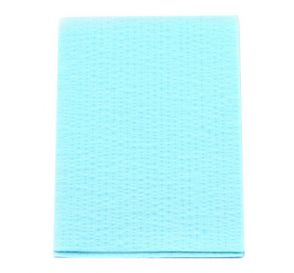 "Advantage Patient Towels, 2-Ply Tissue with Poly, 18"" x 13"", Blue"