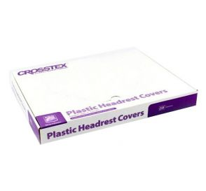 "Plastic Headrest Covers, 9.5"" x 14"" Jumbo, Clear"