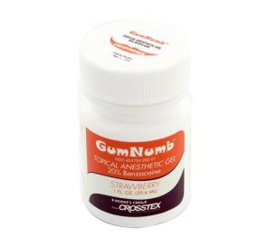 GumNumb® Topical Anesthetic Gel (20% Benzocaine) 1 oz Jar, Strawberry