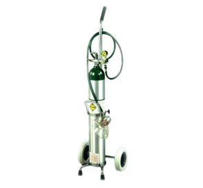 Oxygen Cart Demand Valve Resuscitator Kit w/Inhalator on Cart