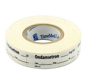 Ondansetron Labels, White, Perforated Tape Style