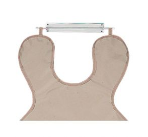 "Wall Mount X-Ray Apron Hanger, Standard White Coated Steel, 15"" x 2"""