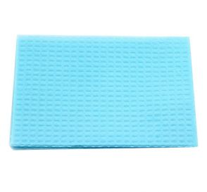"Patient Towel Tissue/Poly 13"" x 18"" 2-Ply Blue"