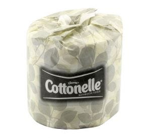 """Kleenex® Cottonelle® Bathroom Tissue, 4.09"""" x 4"""", White"""
