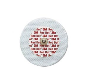 """Red Dot™ Soft Cloth Monitoring Electrode, 2.4"""" Diameter w/ Solid Gel"""