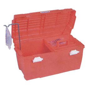 Large Medical Emergency Box, Orange w/Lift Out Tray