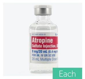 Atropine Sulfate 0.4mg/ml 20ml Multiple Dose Vial
