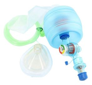 CPR-2 Adult Disposable Manual Resuscitator w/Mask, Manometer, O2 Reservoir Bag and PEEP Valve