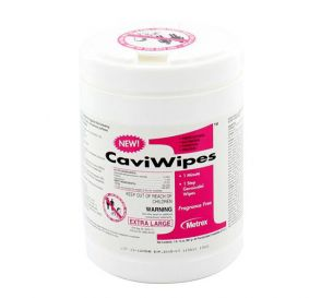 "CaviWipes1™ 1 Minute, 1 Step Germicidal Wipes, 9"" x 12"" Extra Large, 65 Wipes/Canister"