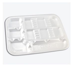 "ProTray™ Disposable Instrument Set-Up Tray, 9-1/2"" x 13-1/4"", w/Dividers, White"