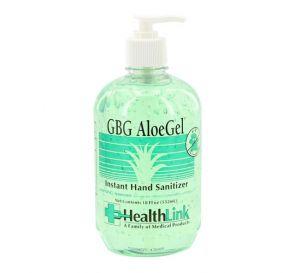 GBG AloeGel® Instant Hand Sanitizer, 18 oz Pump Bottle