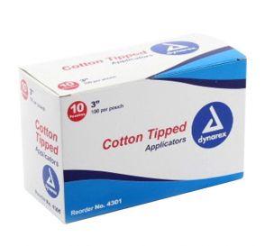 """Cotton Tipped Applicators Non-Sterile 3"""""""