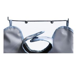 "Wall Mount X-Ray Apron Hanger, Chrome Coated Steel, 15"" x 2"""