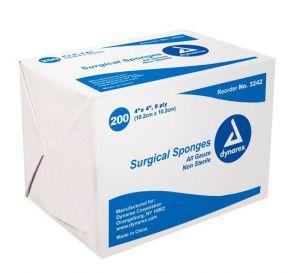 """100% Cotton Gauze Sponge, Non-Sterile, 4"""" x 4"""", 8Ply"""