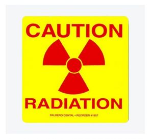 """Caution Radiation"" Labels, 3"" x 3"", 5/Pack"