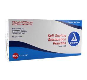 "Sterilization Pouches, Self-Sealing, 5.25"" x 10"""