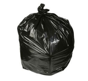 Waste Can Liner 1.8mil Black 55 Gallon