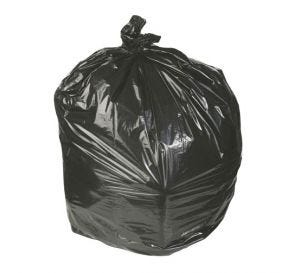 "Waste Can Liner Black 45 Gallon 1.8mil 40"" x 46"""