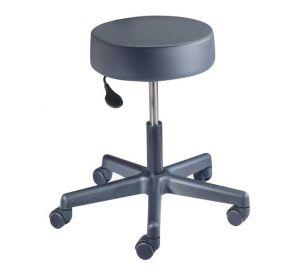 Value Plus Exam Stool, Pneumatic Lift with Backrest, Gunmetal
