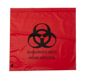 "Biohazard Red Bag 24"" x 33"" 15 Gallon 1.2 mil"