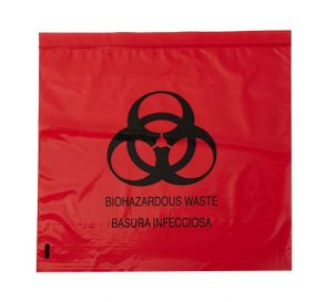 "Biohazard Red Bag 31"" x 43"" 33 Gallon 1.2 mil"