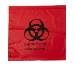 "Biohazard Red Bag 17"" x 17"" 4 Gallon 1.5 mil"