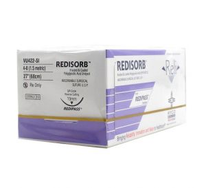 RELI® REDISORB™ Polyglycolic Acid (PGA) Undyed Braided & Coated Suture, 4-0, FS-2 (C-6), Reverse Cutting, 27""