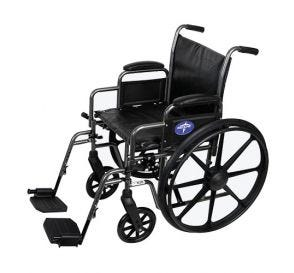 "Wheelchair 18"" Swing Footrest and Armrest"