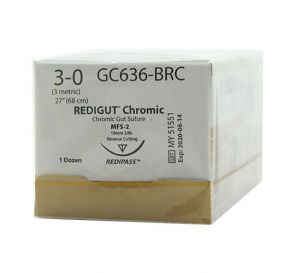Reli® REDIGUT® Chromic Gut Absorbable Suture, 3-0, MFS-2 (FS-2 or C6), Reverse Cutting, 27""