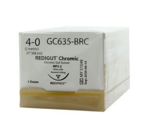 Reli® REDIGUT® Chromic Gut Absorbable Suture, 4-0, MFS-2 (FS-2 or C6), Reverse Cutting, 27""
