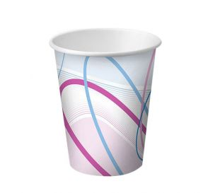 Disposable Paper Cups, 3 oz, Contemporary Design