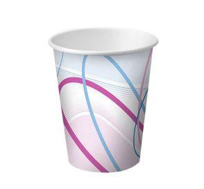 Disposable Paper Cups, 3 oz, Contemporary Design