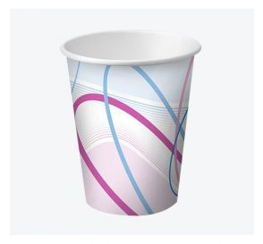Disposable Paper Cups, 5 oz, Contemporary Design
