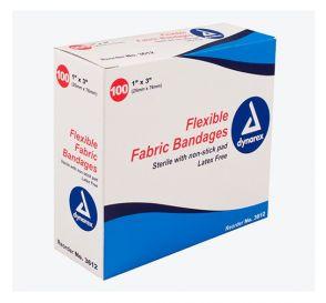 "Flexible Fabric Bandages, 1"" x 3"", Sterile, Latex-Free"