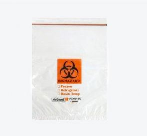 "Lab Guard® Reclosable Biohazard Bags, 12"" x 15"""