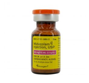 Midazolam (Versed®) 5mg/ml 10ml Vial - Box