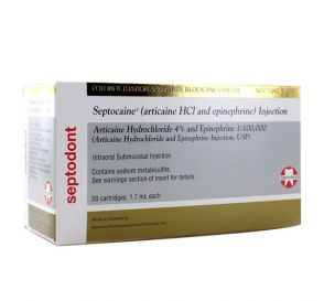 Septocaine® 4% (Articaine HCl w/Epi) 1:100,000 1.7ml Cartridges