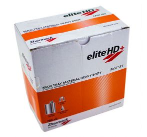 Elite®HD+ Impression Material Heavy Body Maxi Tray Material 2 x 380ml Cartridges