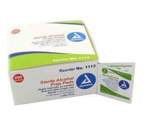 Alcohol Prep Pads, Medium, Sterile