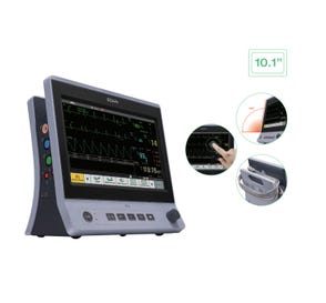 """Patient Monitor with 10.1"""" Touch Screen, ECG, SPO2, NIBP, CO2, Respiratory Rate and Printer"""